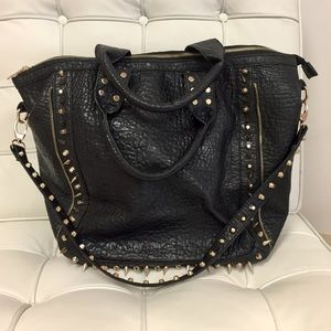 Black and Gold Spiked Tote 